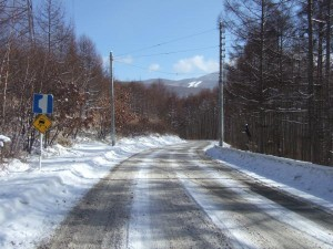 ブランシュたかやまへの道路